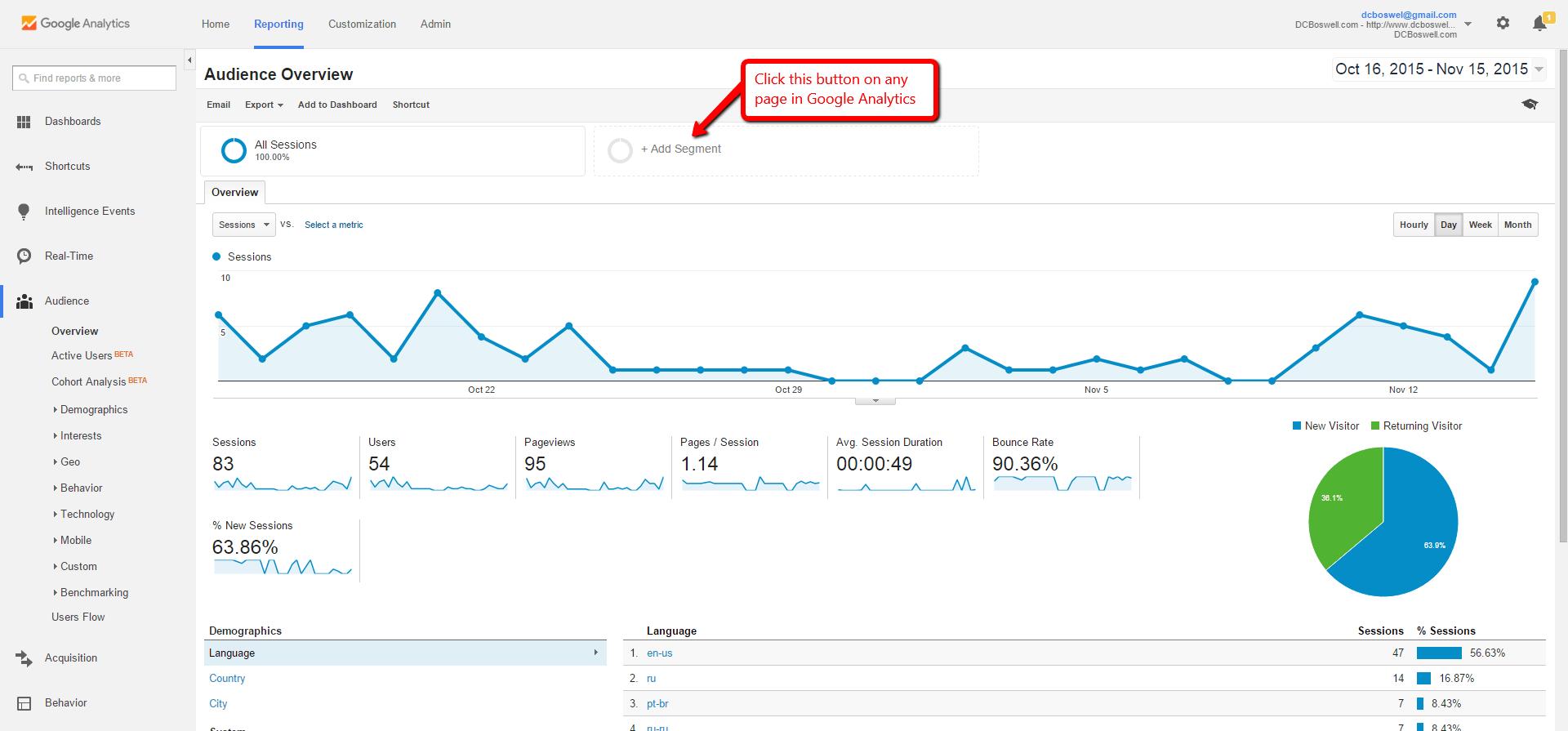 Block Referrer Spam Step 1