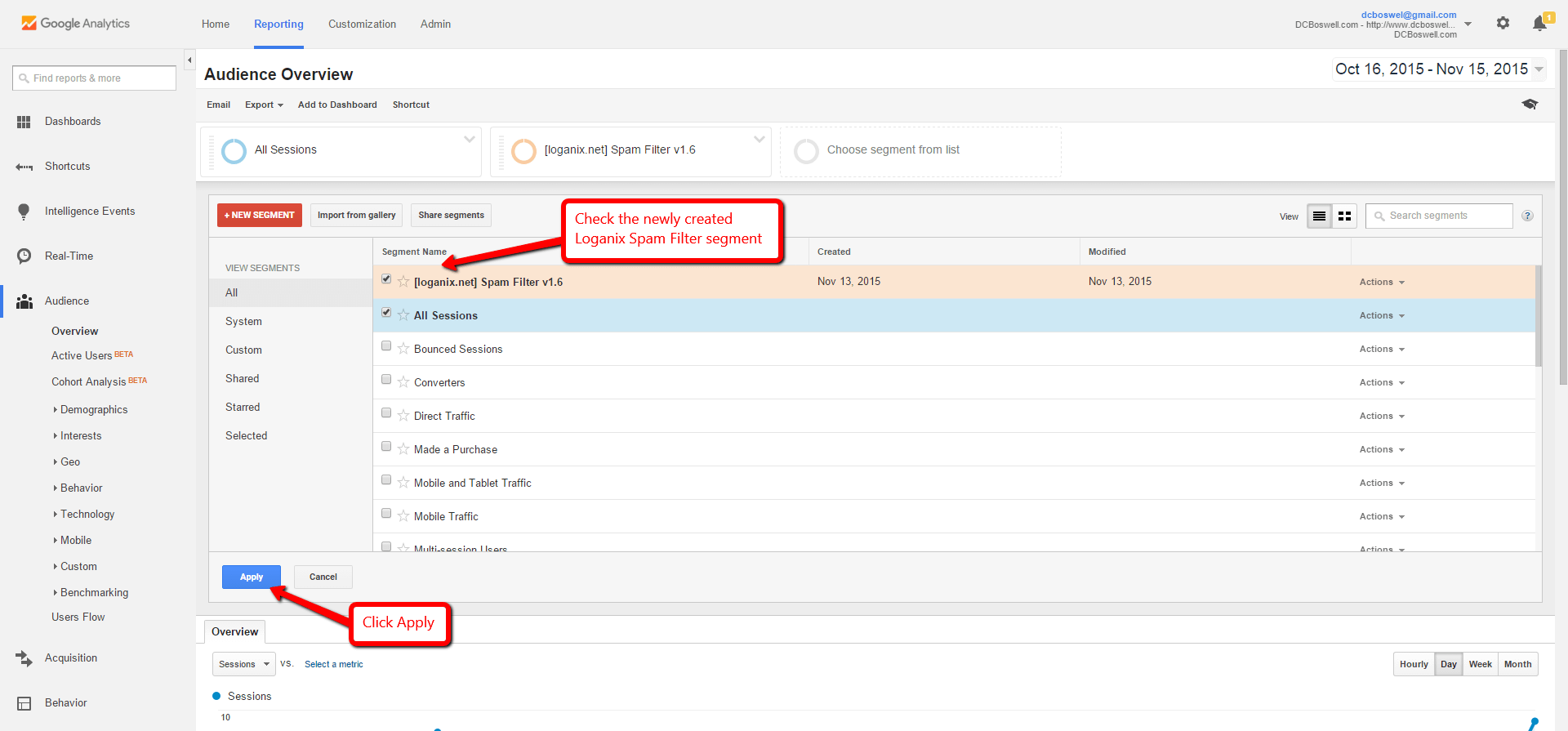 Block Referrer Spam Step 2