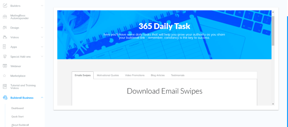 Daily Tasks - 365 area