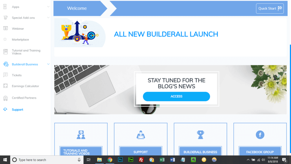 BuilderAll Review Admin Screenshot
