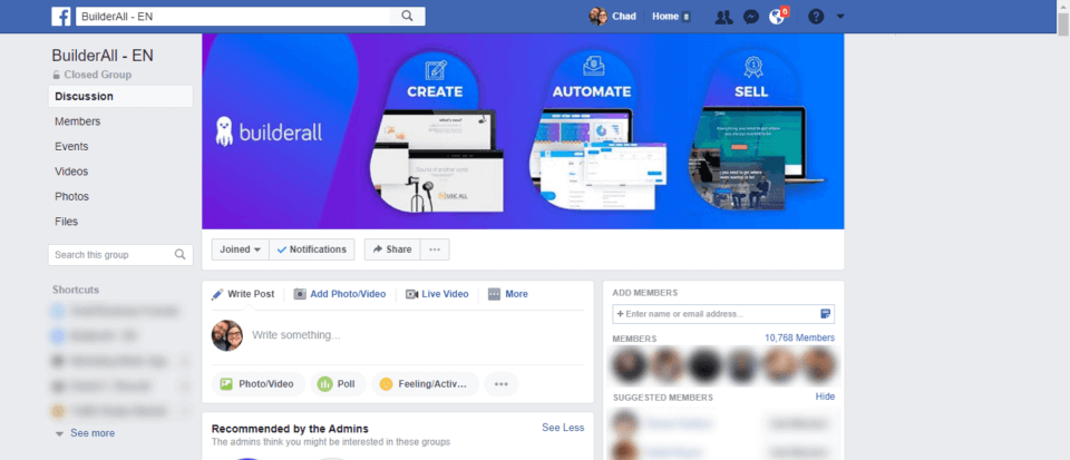 BuilderAll Review Facebook Community