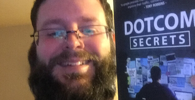 Me with my DotComSecrets book!