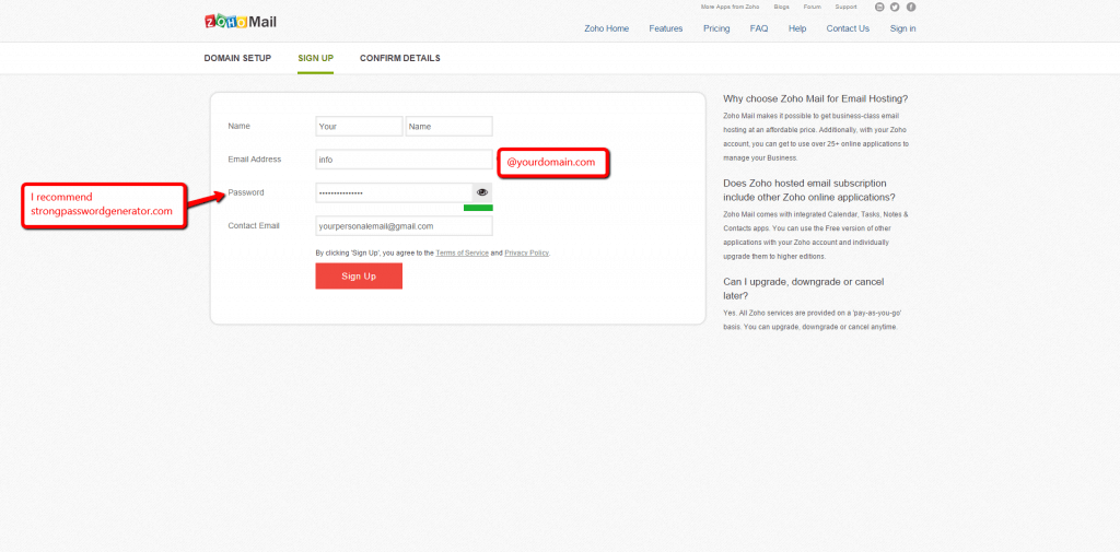 Zoho Mail Setup Step 3